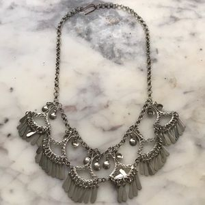 Jewelry - Bellydancing bib statement necklace silver tone